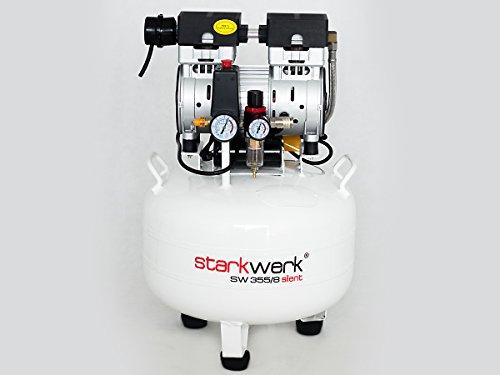Starkwerk SW 355/8 Silent Flüster Druckluft Kompressor Ölfrei