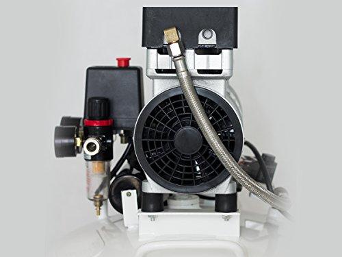 Starkwerk Silent Flüster Druckluft Kompressor SW 355/8 Ölfrei 750Watt - 64db 2