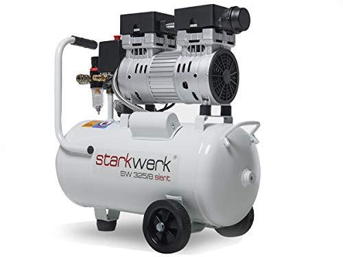 Starkwerk Flüster Silent Druckluft Kompressor SW 325/8 Ölfrei inkl. Druckluftset