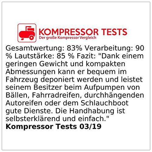 PEARL 12V Mini Kompressor mit Manometer - 5