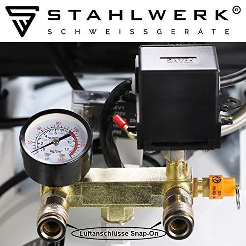 stahlwerk-druckluft-fluesterkompressor-st-708-pro-70-l-kessel-8-bar-oelfrei-360-l-min-sehr-leise-sehr-kompakt-weiss-7-jahre-garantie-karton