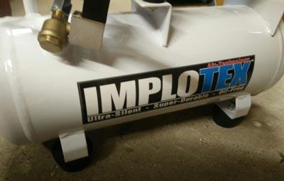 IMPLOTEX Druckluftkompressor 480W Flüster - Kompressor 48dB leise ölfrei