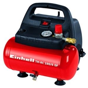 Einhell Kompressor TH-AC 190/6 OF (1,1 kW, 6 L, Ansaugleistung 185 l / min, 8 bar, ölfrei, tragbar)