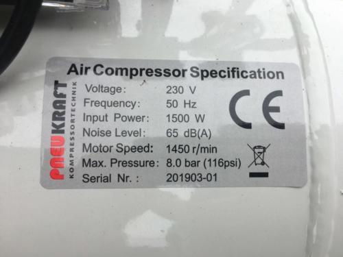 Pneukraft 50L Fluesterkompressor (10)